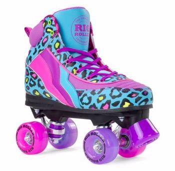 Rio Roller Leopard Blue Roller Skates  - SALE £10 OFF