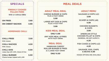 Specials Meal Deals Menu