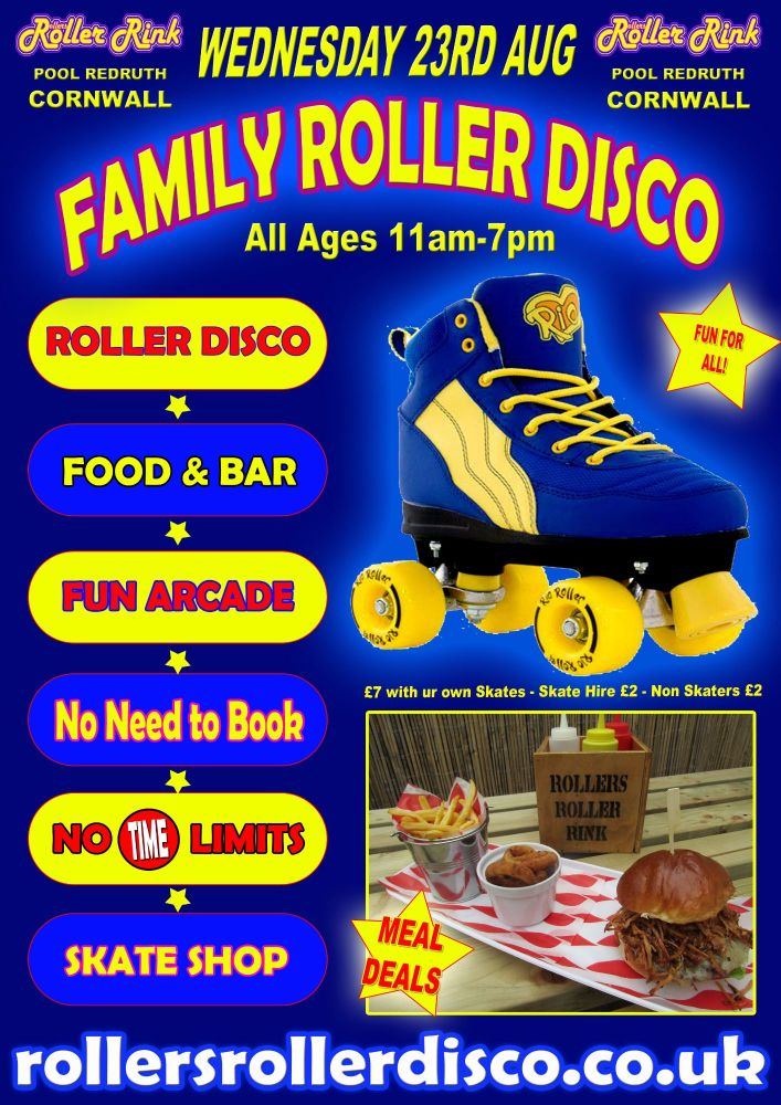 Wednesday 23rd August Family Roller Disco 11am-7pm