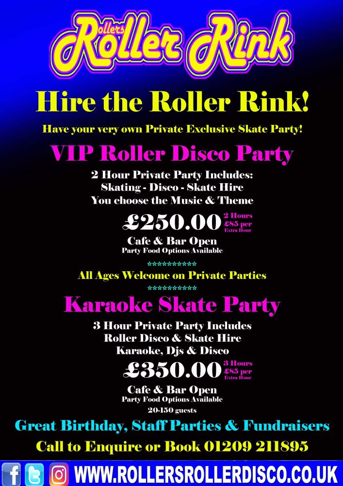 Private Hire Roller Disco Party Deals