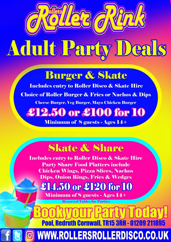Adult Roller Disco Party Deals New