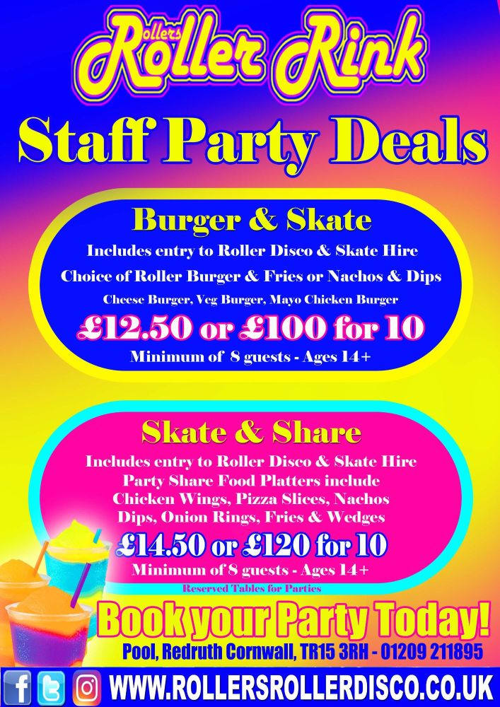 Staff Party Deals at Rollers Roller Rink
