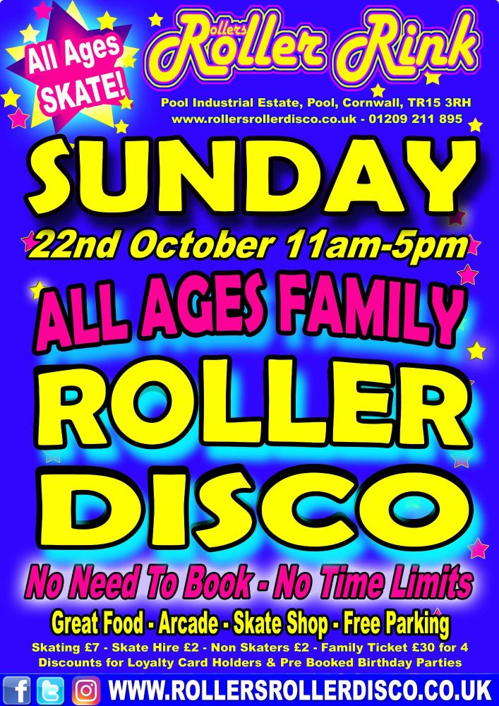 Sunday Roller Disco October 22nd