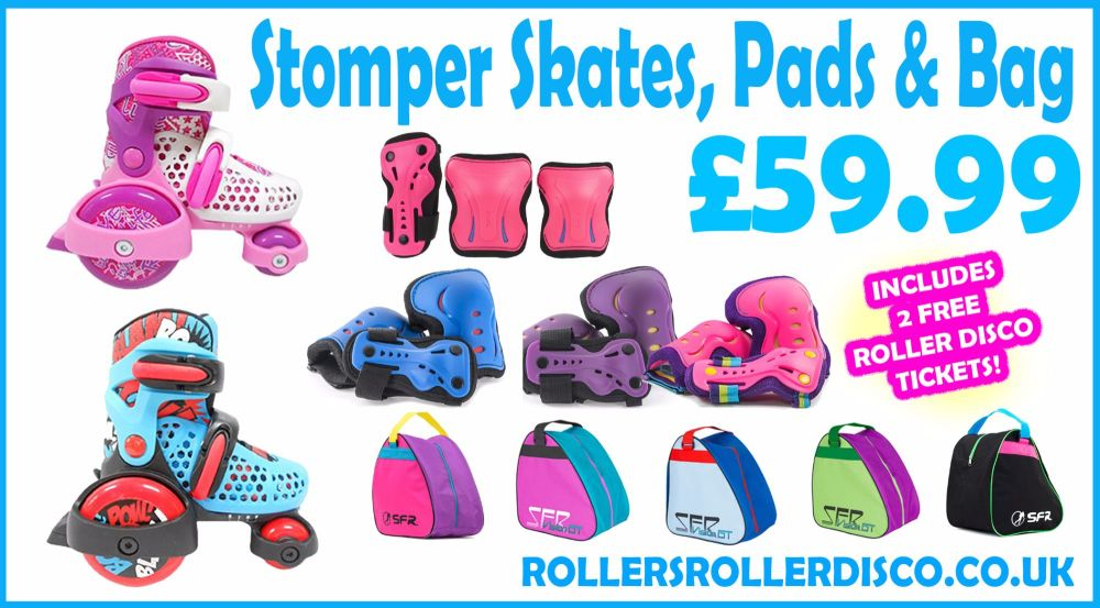 Stomper Skates, Pads & Bag Deal
