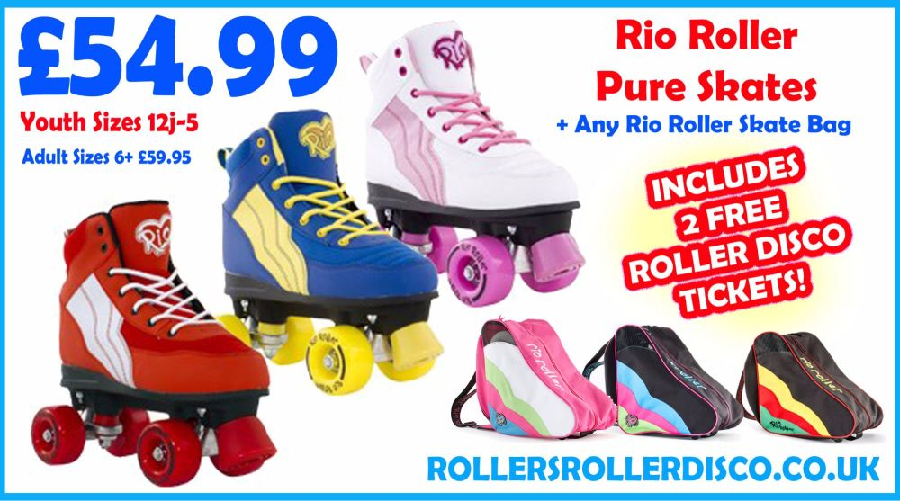 Rio Roller Pure Skates and Skate Bag