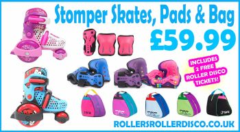 SFR Stomper Roller Skate Deal with Safety Pads Set & Skate Bag