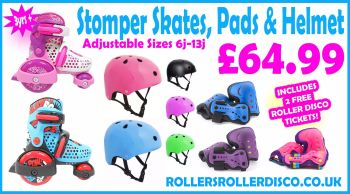 SFR Stomper Skates, SFR Pads Set & SFR Helmet Deal