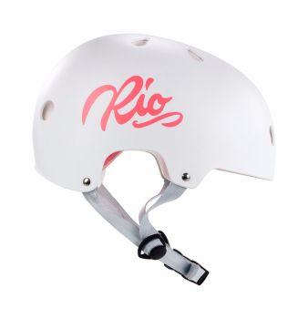Rio Roller Script Skate Helmet XS-XL White