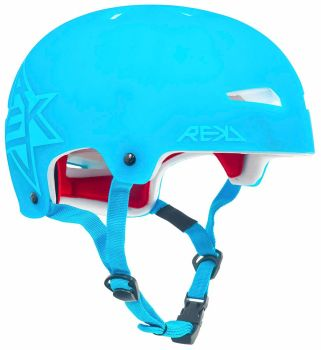 REKD Elite Icon Semi-Transparent Helmet Blue