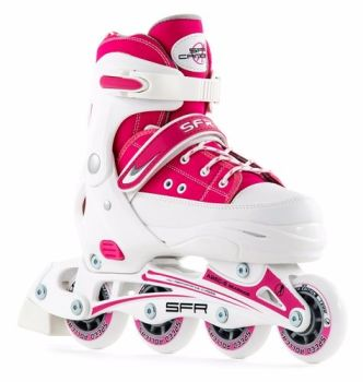 SFR Camden Inline Skates Adjustable Sizes 8j-6a Pink