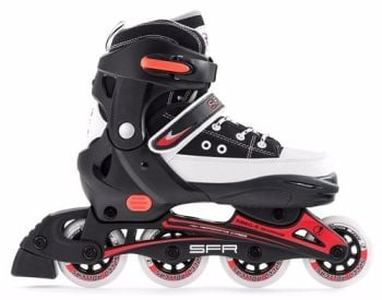 SFR Camden Inline Skates Adjustable Sizes 8j-10a Black