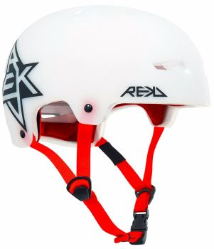 REKD Elite Icon Semi-Transparent Helmet White