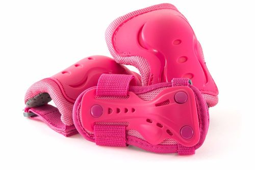 SFR Junior Girls Triple Safety Pad Set - Pink