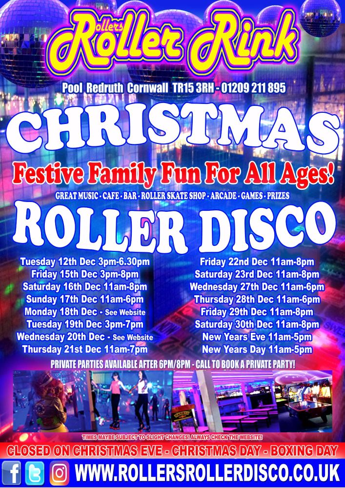 Christmas 2017 at Rollers Roller Rink Cornwall