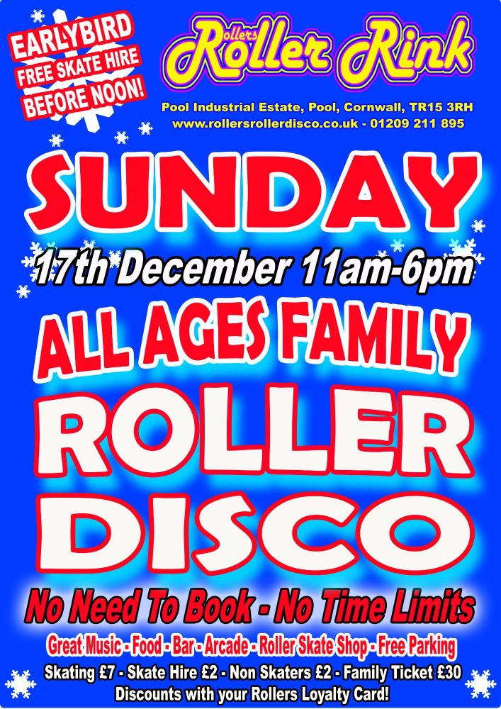 Sunday Roller Disco 17th December