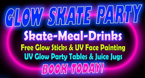 Glow Skate Party at Rollers Roller Rink Cornwall tv1