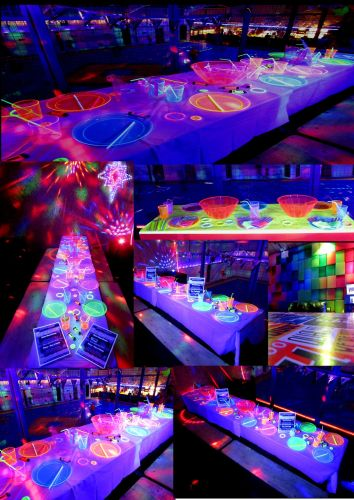 Glow Party Tables