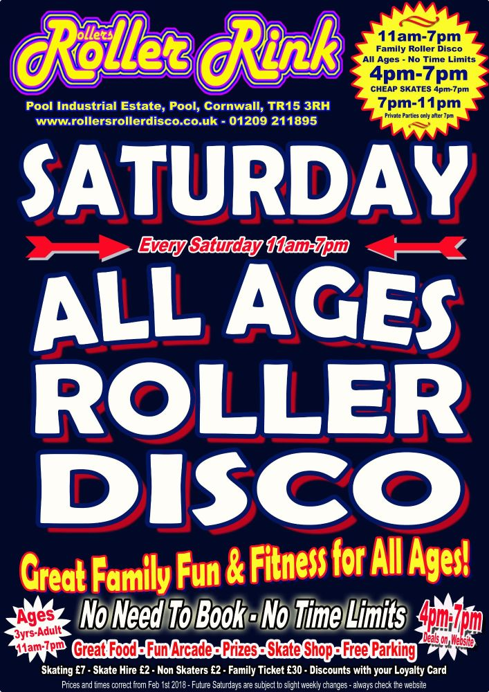 Saturday Roller Discos Feb 2018