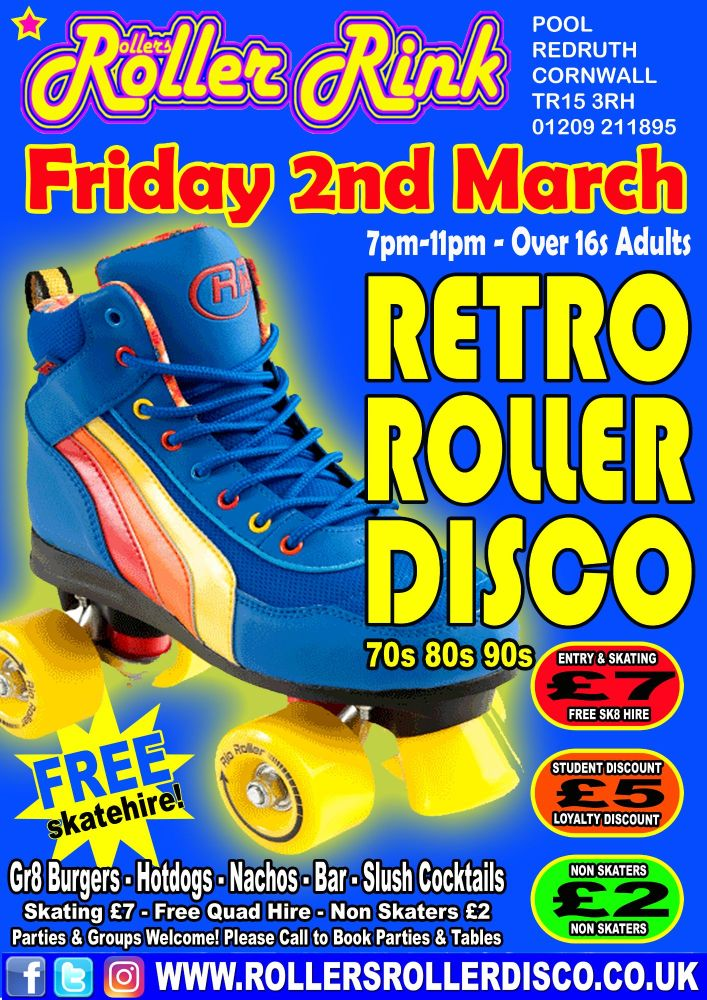 Retro Roller Disco Friday 2nd March