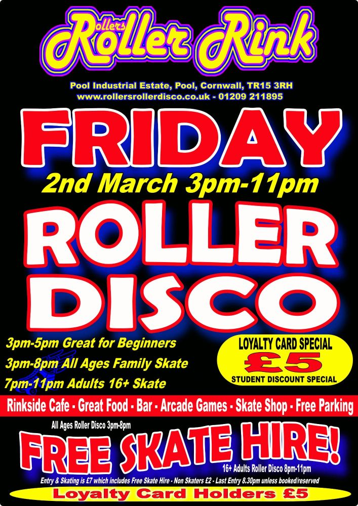 Friday Roller Disco 2nd March 2018
