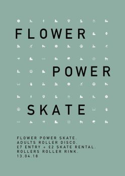 Flower Power Roller Disco Ticket Friday 13th April 7pm-11pm