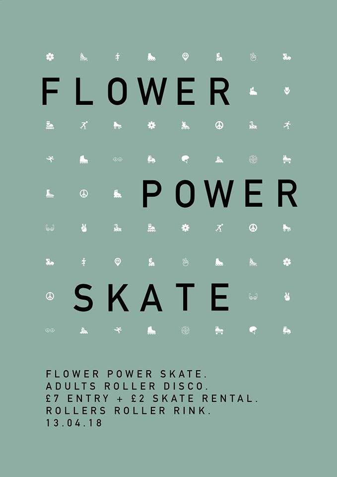 Flower Power Roller Disco Ticket Friday 7pm-11pm