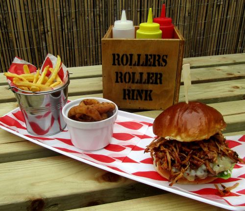 Burgers at the Roller Rink Cornwall 2018