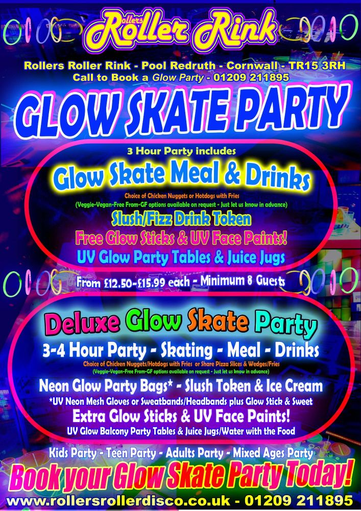 Roller Disco Glow Neon Party 2018 May