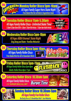 Whitson Half Term Roller Disco Times Cornwall 2018