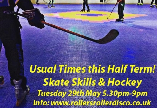 Tuesday Skate Skills & Hockey during Half Term May 2018