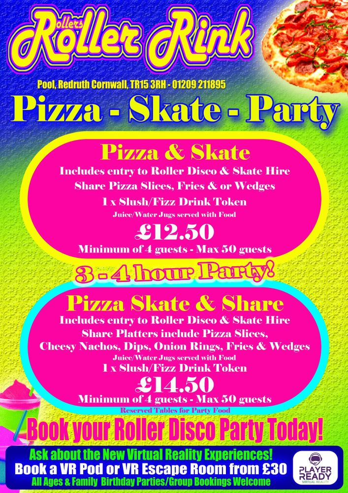 Pizza & Skate Roller Disco Party 2018