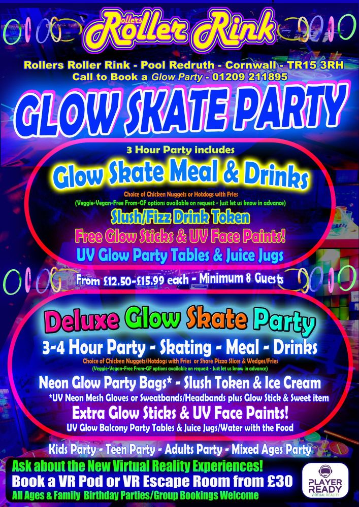 Roller Disco Glow Party 2018