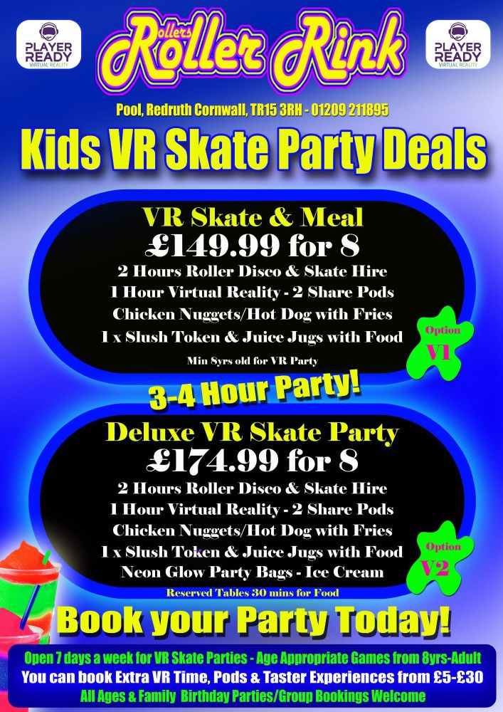 Kids VR Skate Party & Meal 2018