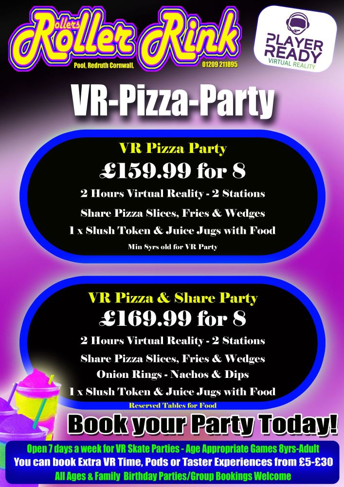 VR Pizza Party 2 hours 2 stations