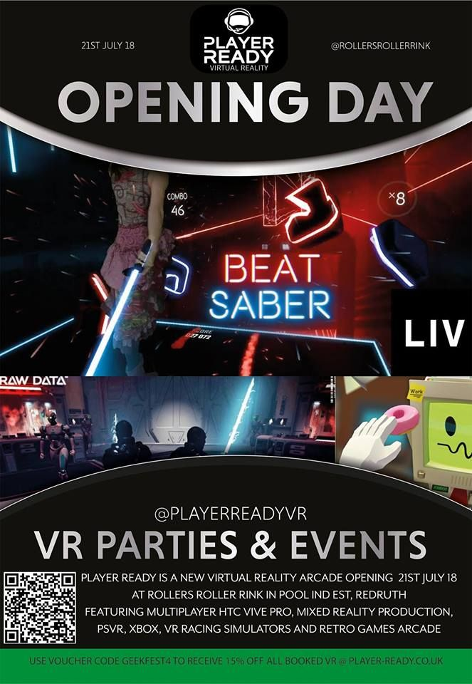 Player Ready VR Opening Day Cornwall