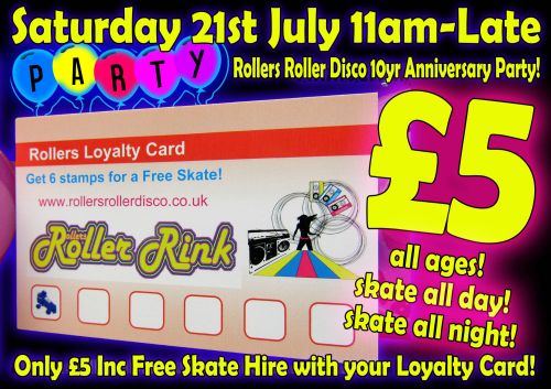Loyalty Card Deal Saturday 21st July