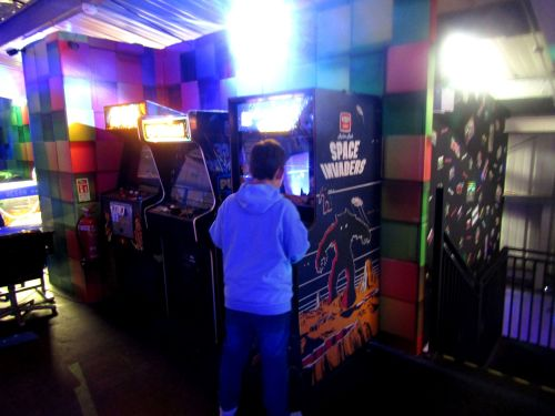 Space Invaders at the Roller Disco Cornwall 2018