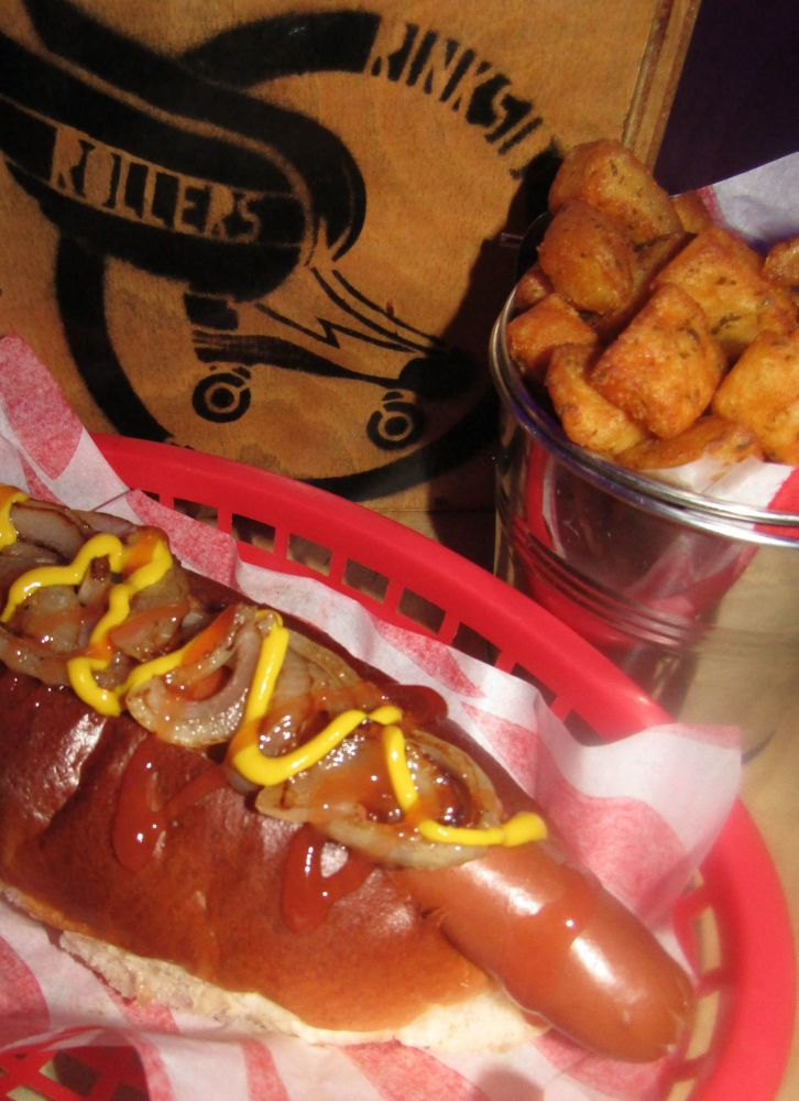 Hotdog and Bites at the Rollers Roller Rink Cornwall