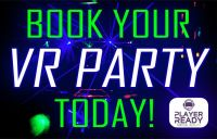 Book your VR Party Today screen ad