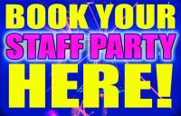 Book your Staff Party Here tv ad
