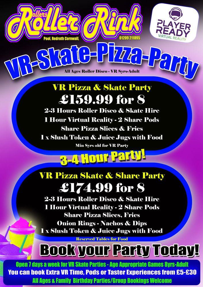 Kids VR Skate Party & Pizza 2018
