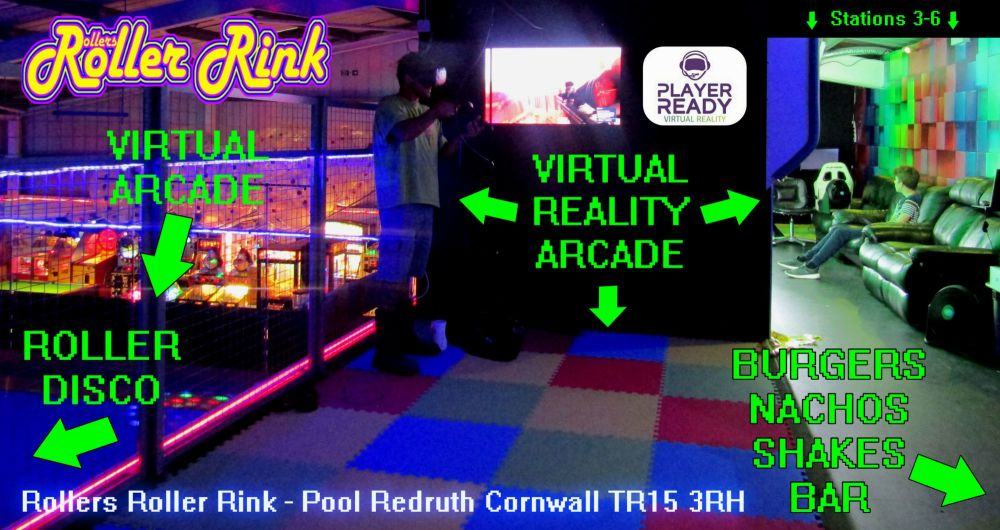 VR at Rollers Roller Rink Cornwall Player Ready Arcade