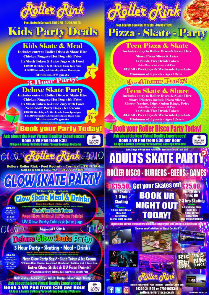 8 Roller Disco Party Deals