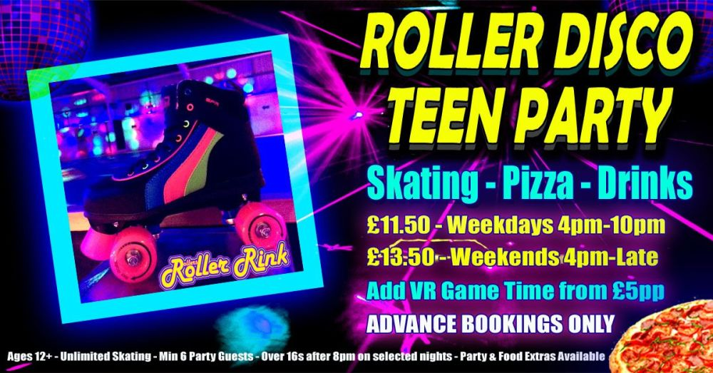 Roller Disco Teen Pizza Party Autumn 2018 Cornwall
