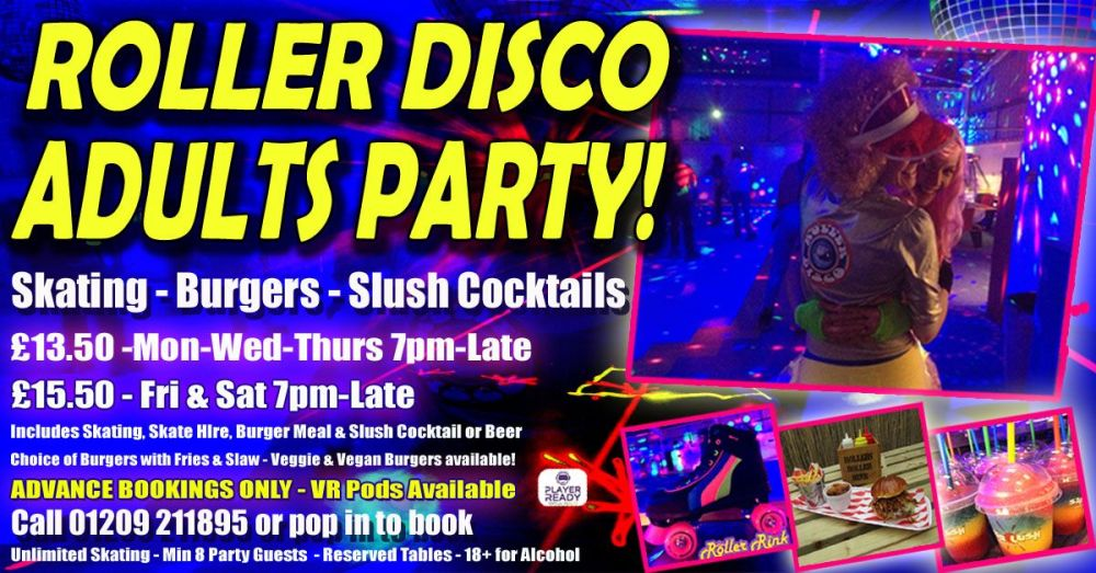 Roller Disco Adults Burger Skate Party Autumn 2018