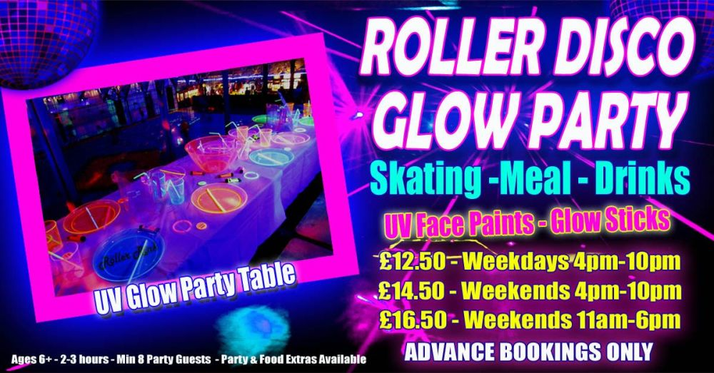 Roller Disco UV Glow Party Autumn 2018