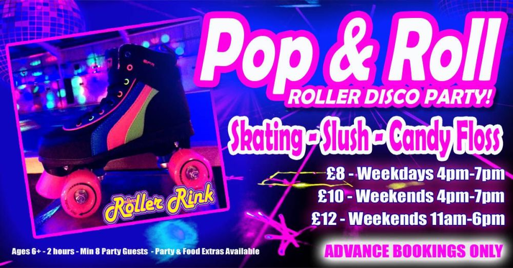 Roller Disco Pop and Roll Party Autumn 2018