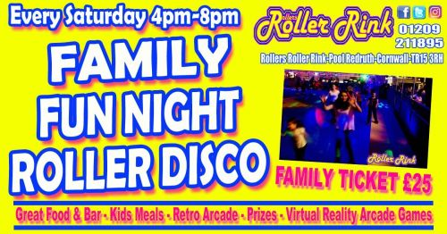 Family Fun Night at the Roller Rink Cornwall Oct 2018