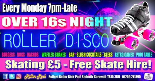Over 16s Night Every Monday in Oct
