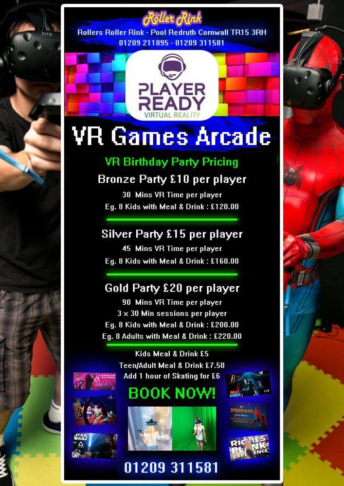 VR Party Prices Nov 2018